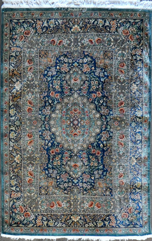 4.3x6.7 persian qum silk #95156 Sold