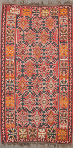 5.8x10.8 antique persian kilim  #34540