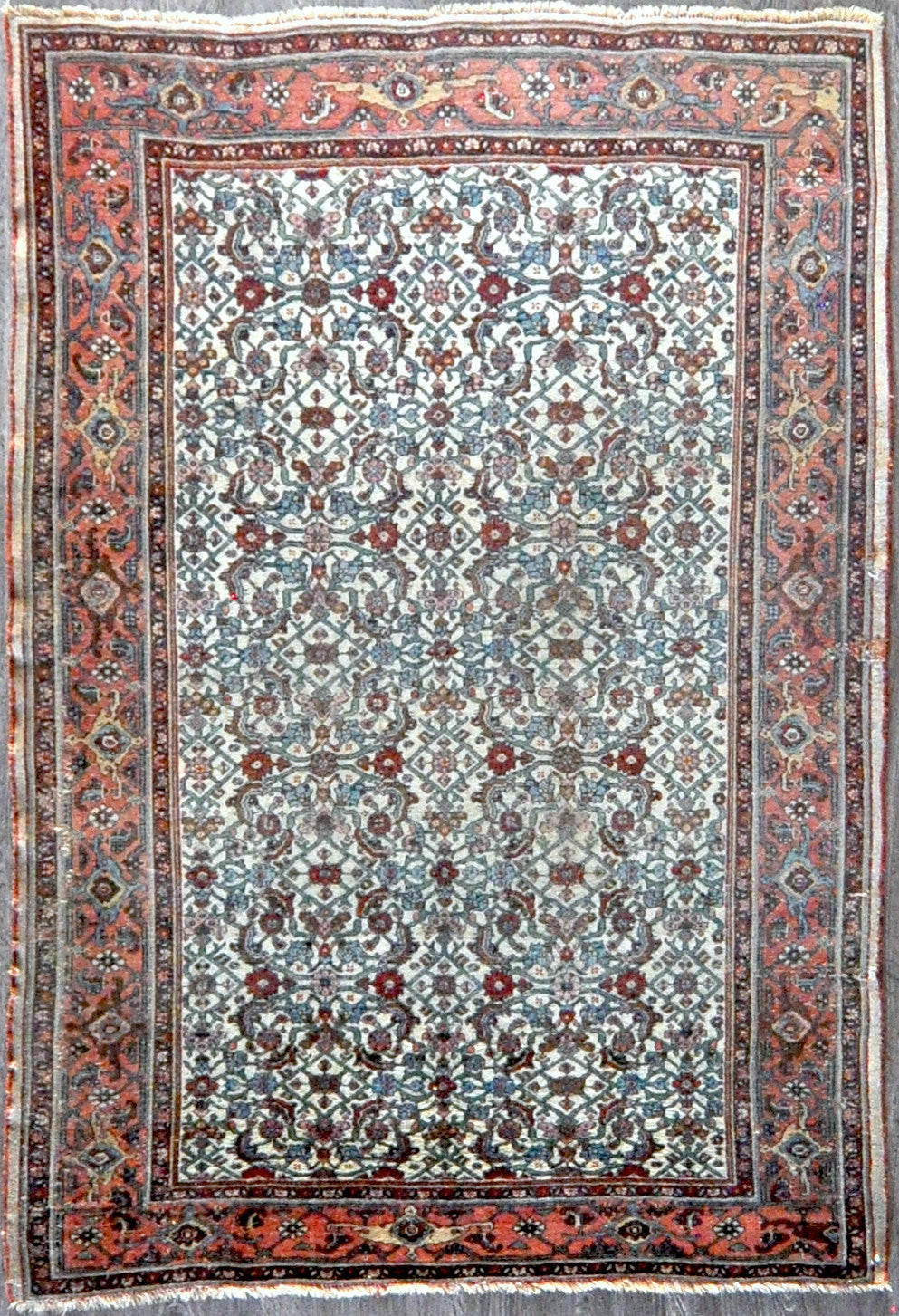 4.9x6.10 Persian antique bijar #90374