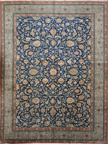 10.9x14.5 Persian Antique qum #39958