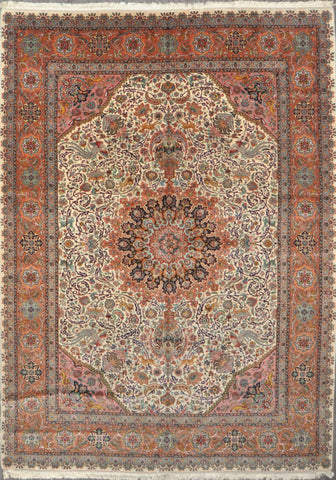 8.5x11.5 Persian tabriz wool silk #19538