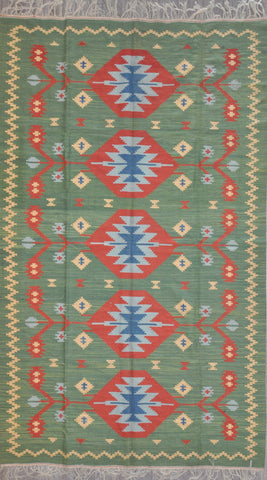 6.1x10.5 turkish kilim  #95892