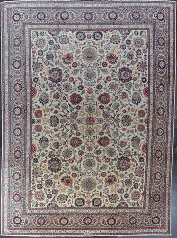 10.3x14.3 persian kashan wool #99218
