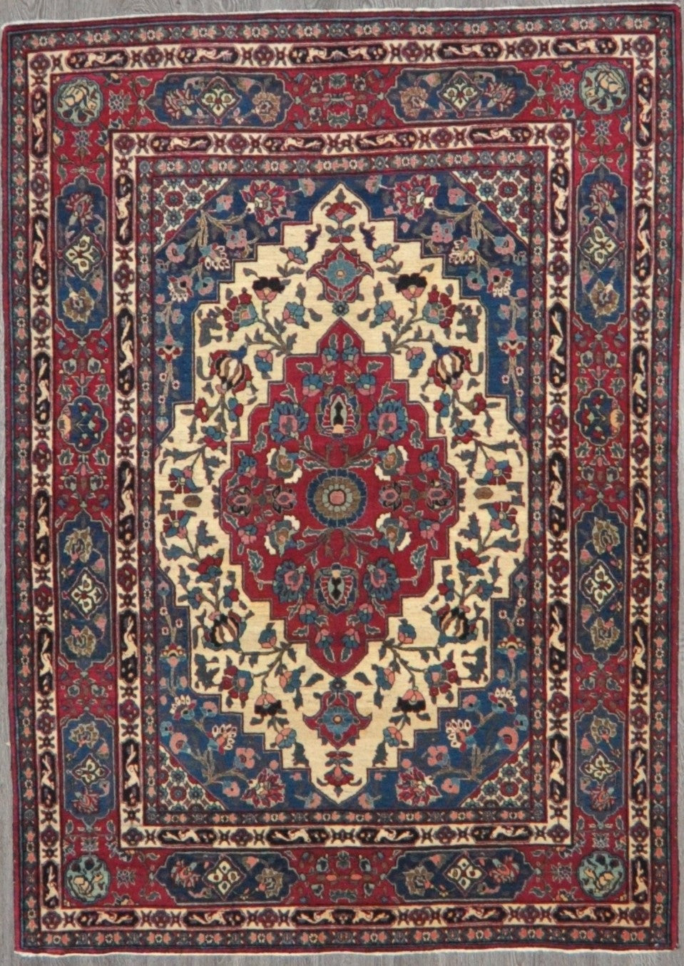 5x7 Persian antique varamin #65725