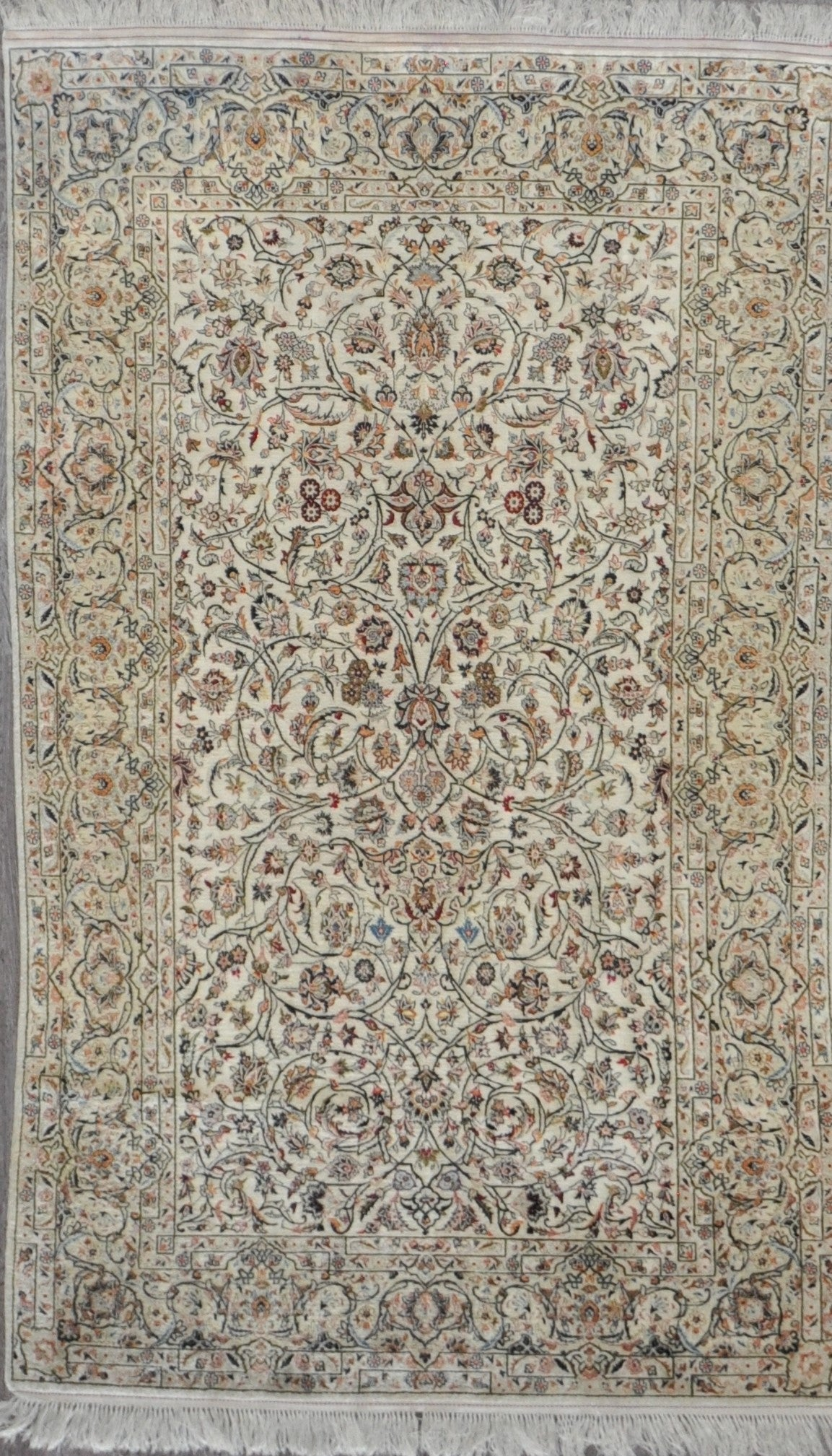4.3x7.2 persian semi ant kashan silk #21138