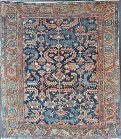 Rug Id 74956 Antique Persian Heriz 8.4x9.7Sold
