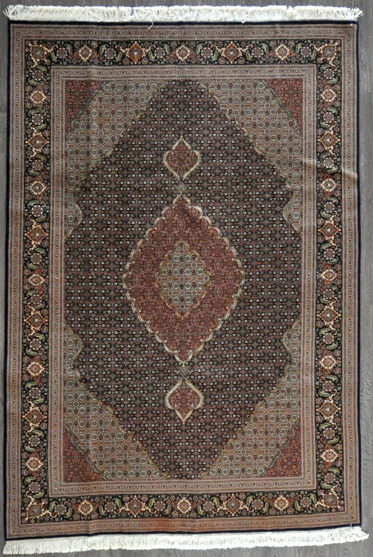 6.7x9.6 persian fish tabriz 60 Raj #89230