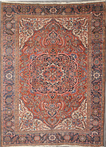 8.5x11. antique persian heriz  #58140
