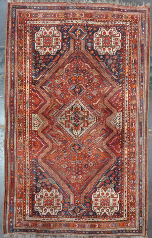 Rug Id: 76432 Antique Ghashgaie 5.6x8.10