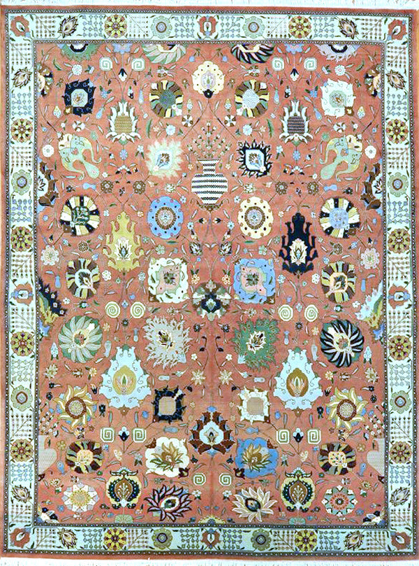 9.10x12.9 antique persian tabriz #34562 Sold