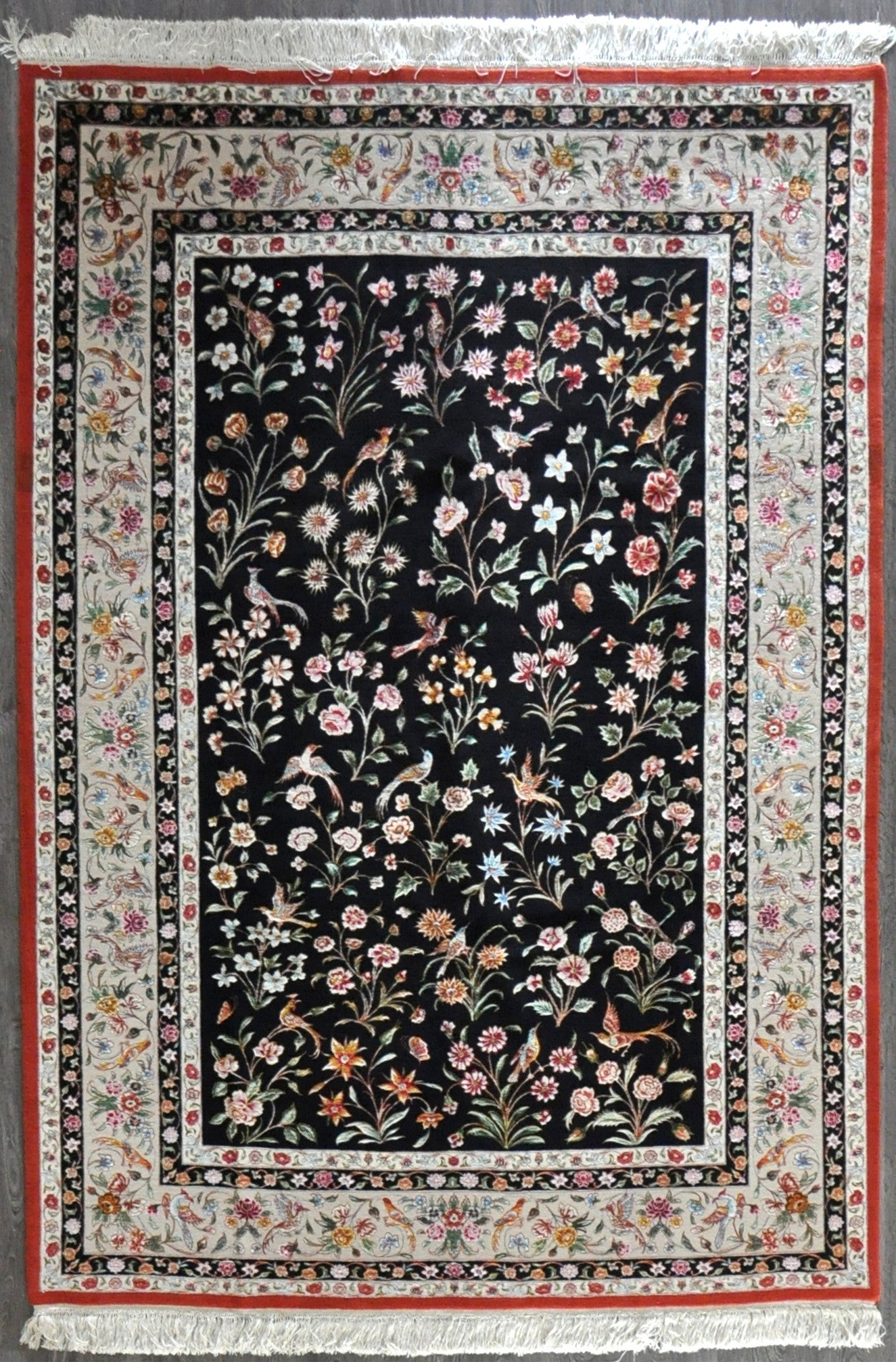 6.6x9.7 persian qum Wool&Silk #20547