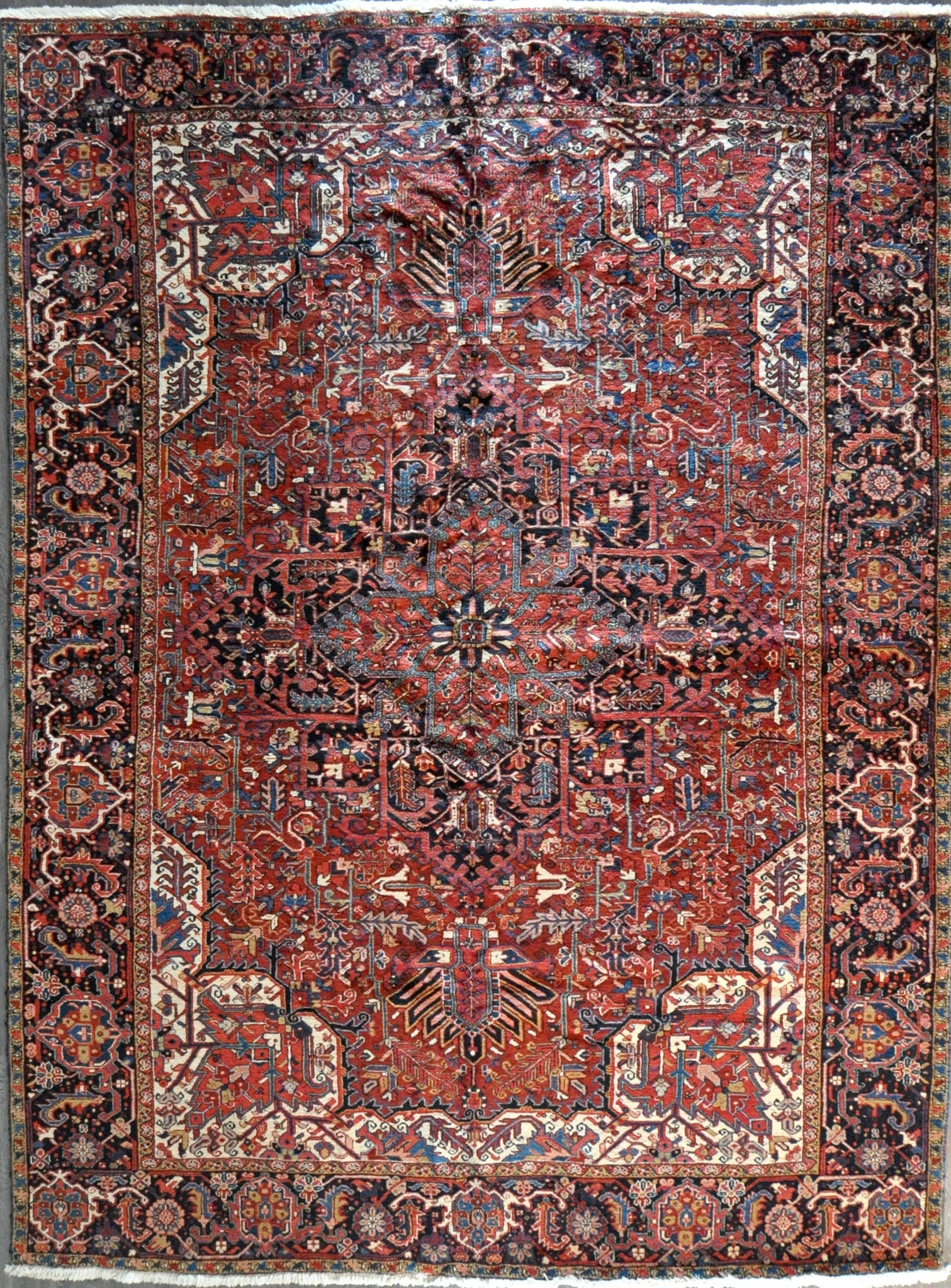 10.2x13.8 antique persian heriz #68125