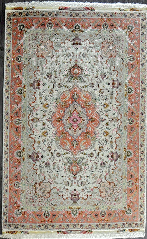 6.9x10.0 persian tabriz60 Raj wool silk #70211