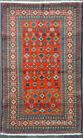 3.9x6.5 antique kazak #85054