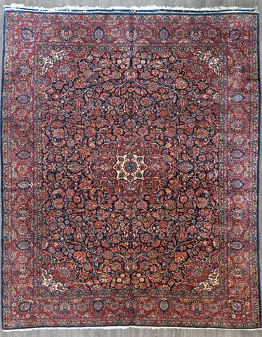 9x11.2 persian antique kashan #14065