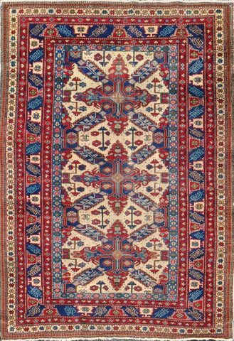 Rug Id:85924 Antique kazak 3.10x5.5