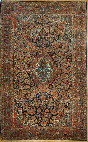 10.6x15.6 antique persian sarouk Id #29246