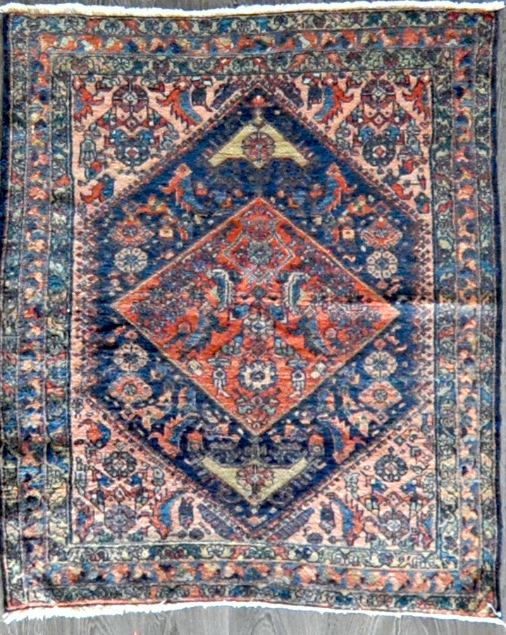 3.7x4.6 antique Persian lillihan #40697