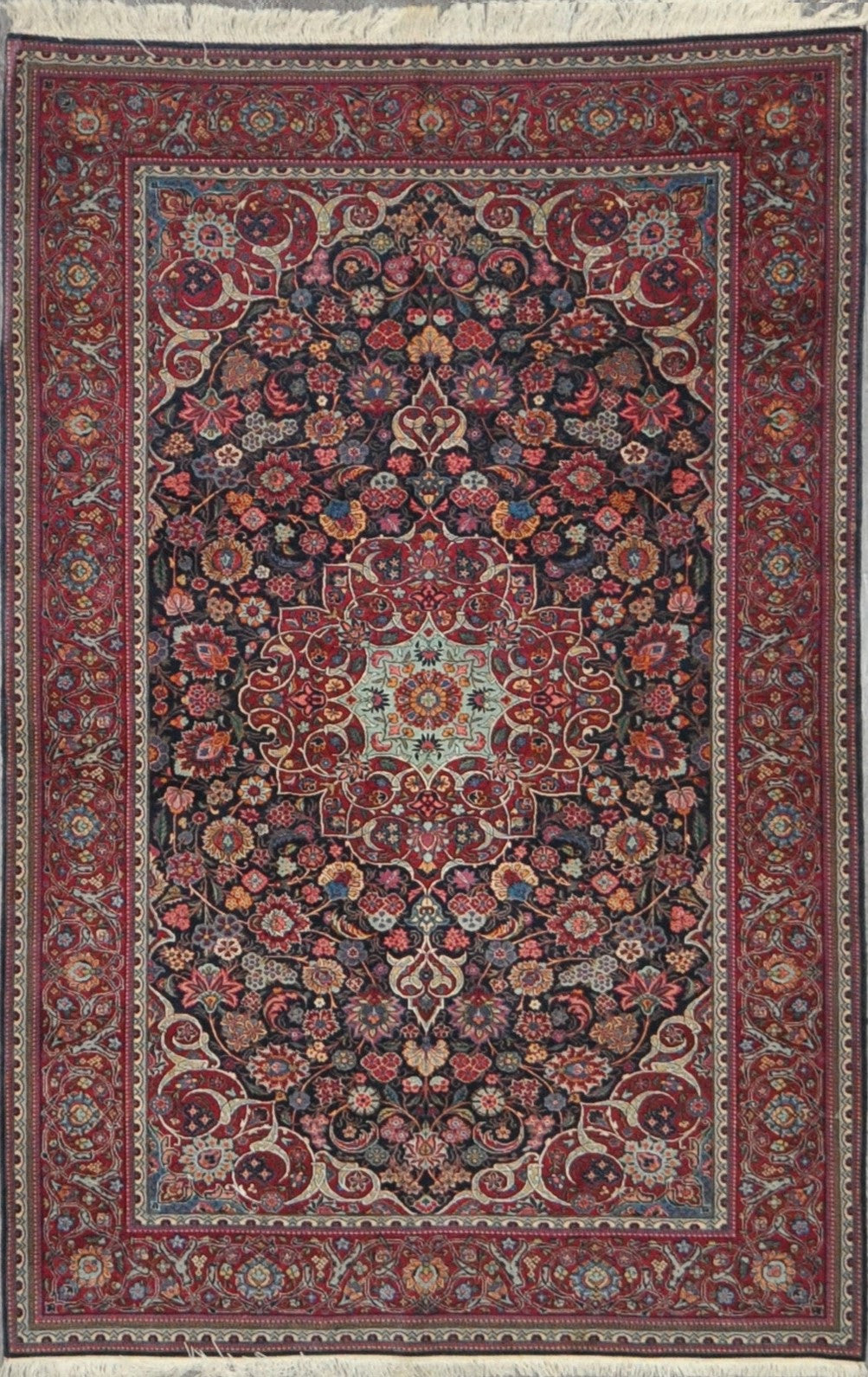 4.10x6.10 Persian antique kashan #52271