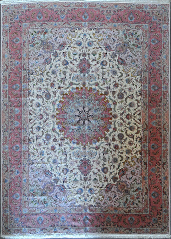 9.9x13.3 persian tabriz wool silk #10634
