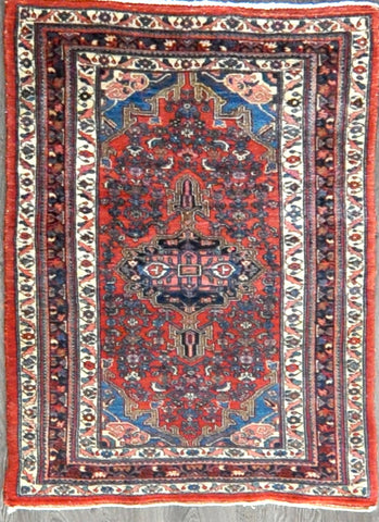 3.2x4.7 Persian antique bijar #19647
