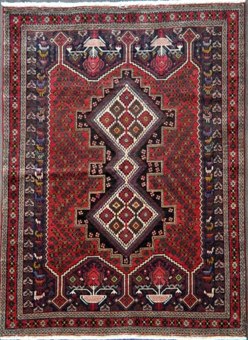 4.8x6.4 afshar antique #41581