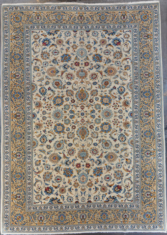8.1x11.5 persian kashan wool #50743