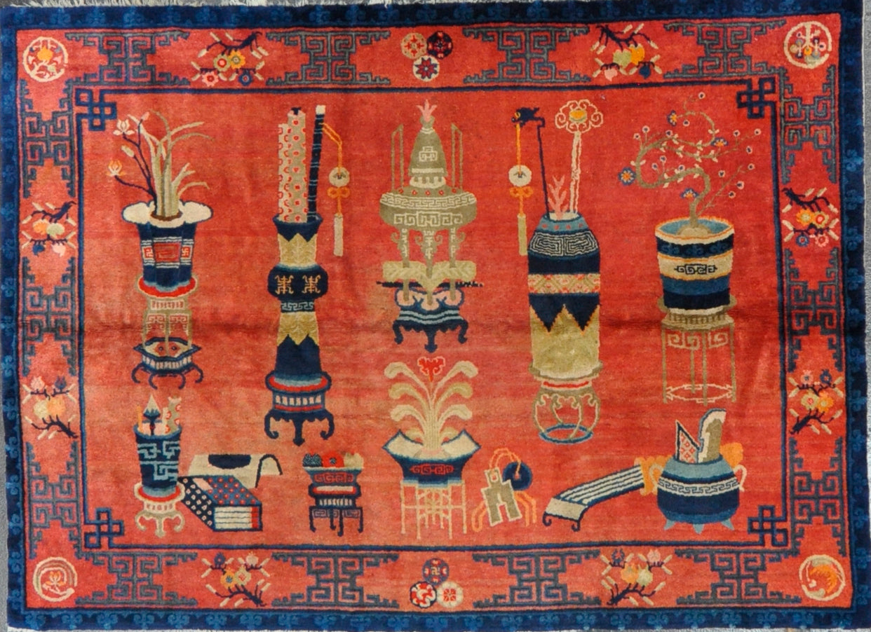 Rug Id: HE-09 Antique Chinese 5.8x7.10