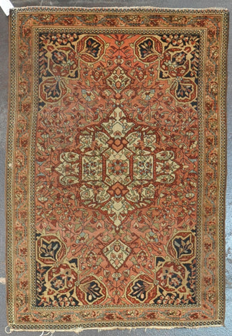 HE-20 Antique Persian Farahan 3.4x4.7