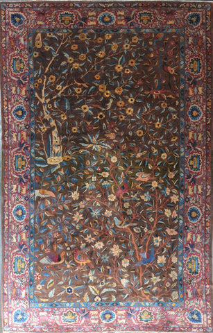 Rug Id:42847 Antique Indo Agra 8.7x13.3