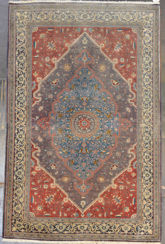 Rug Id: 38863 antique Persian Qum 4.8x7.0