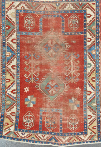 Rug Id: 56103 Antique Kazak 3.10x5.6