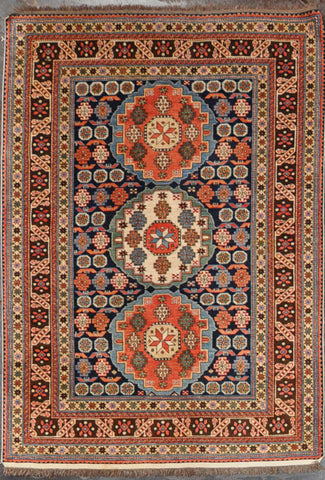 Rug Id:34411 Antique Kazak 4.7x6.6