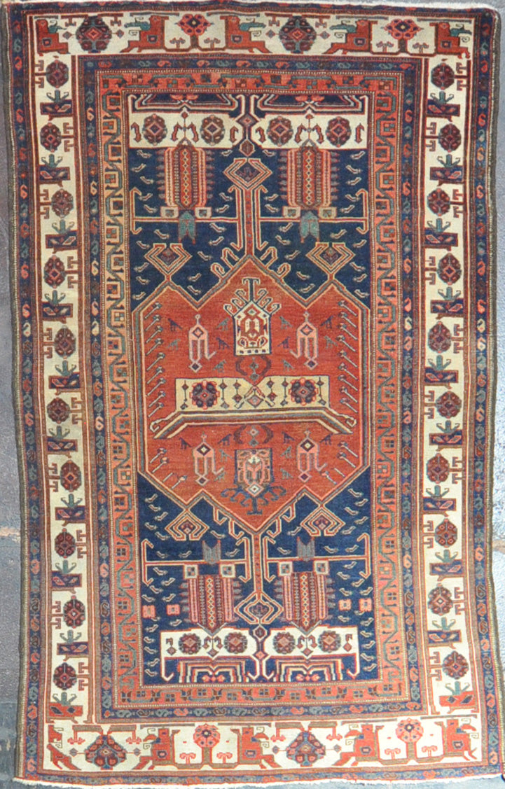 Antique Afshar 4.4x6.10 Rug id22693
