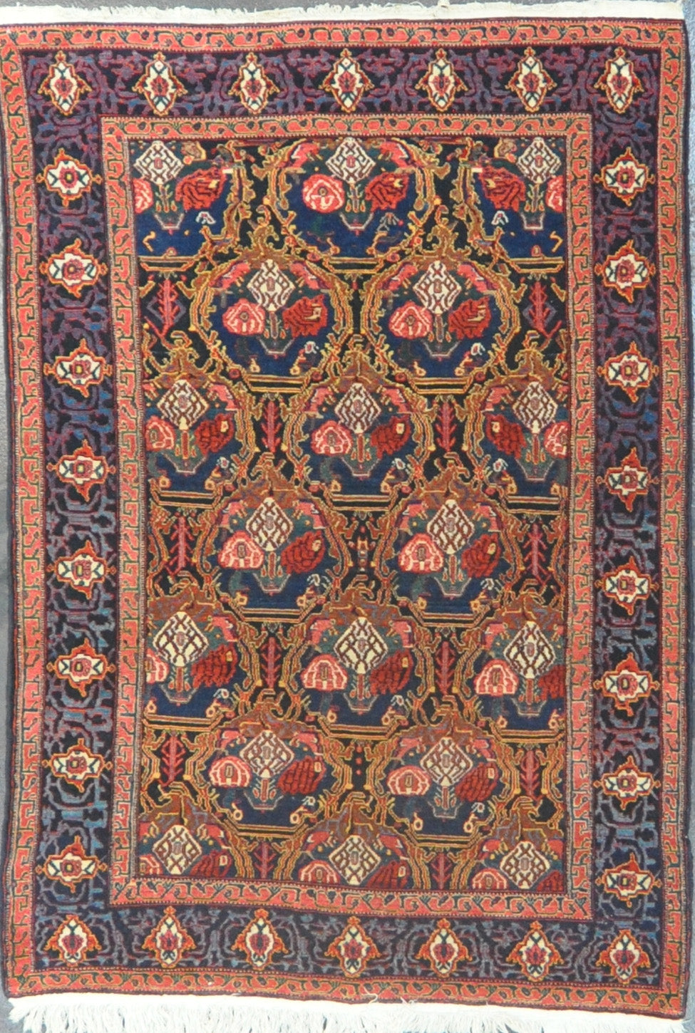 Rug Id: 2919 Antique Persian senneh 4.4x6.7
