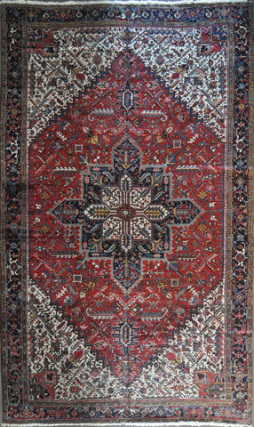 Rug Id: 3646 Antique  Persian Heriz 11.3x18.10