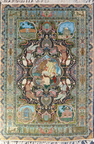 rug Id:4179 Antique Tabriz 6.7x9.9