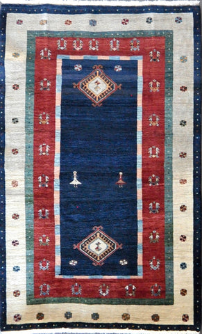 5.0x8.1 Persian gabbeh #68135Sold