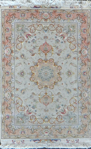 3.3x5.2 persian tabriz wool silk #20669