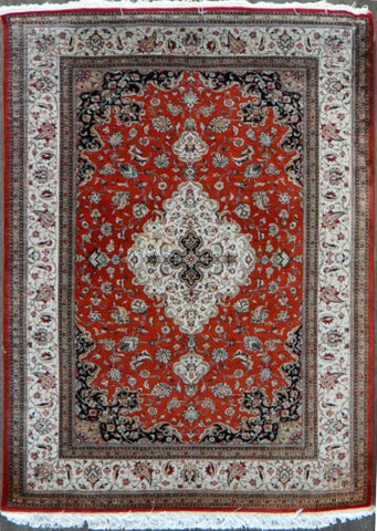 4.7x6.8 persian qum silk #73217 Sold