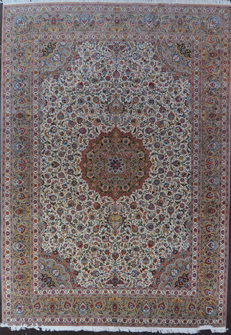 11.6x16.7 persian tabriz wool silk #45971