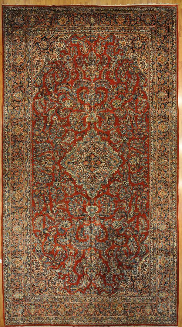 10.3x18.6 antique persian sarouk Id #91762