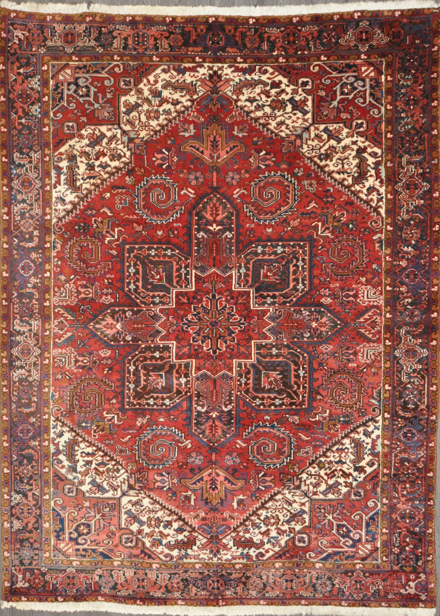 8.4x11.2 persian heriz geometric #28838