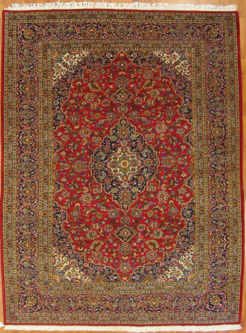 7.8x10.5 persian kashan wool #54973
