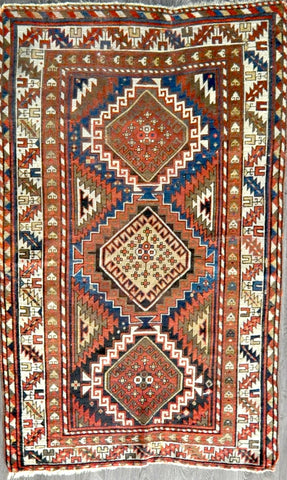 4.5x7.1 antique kazak #85563