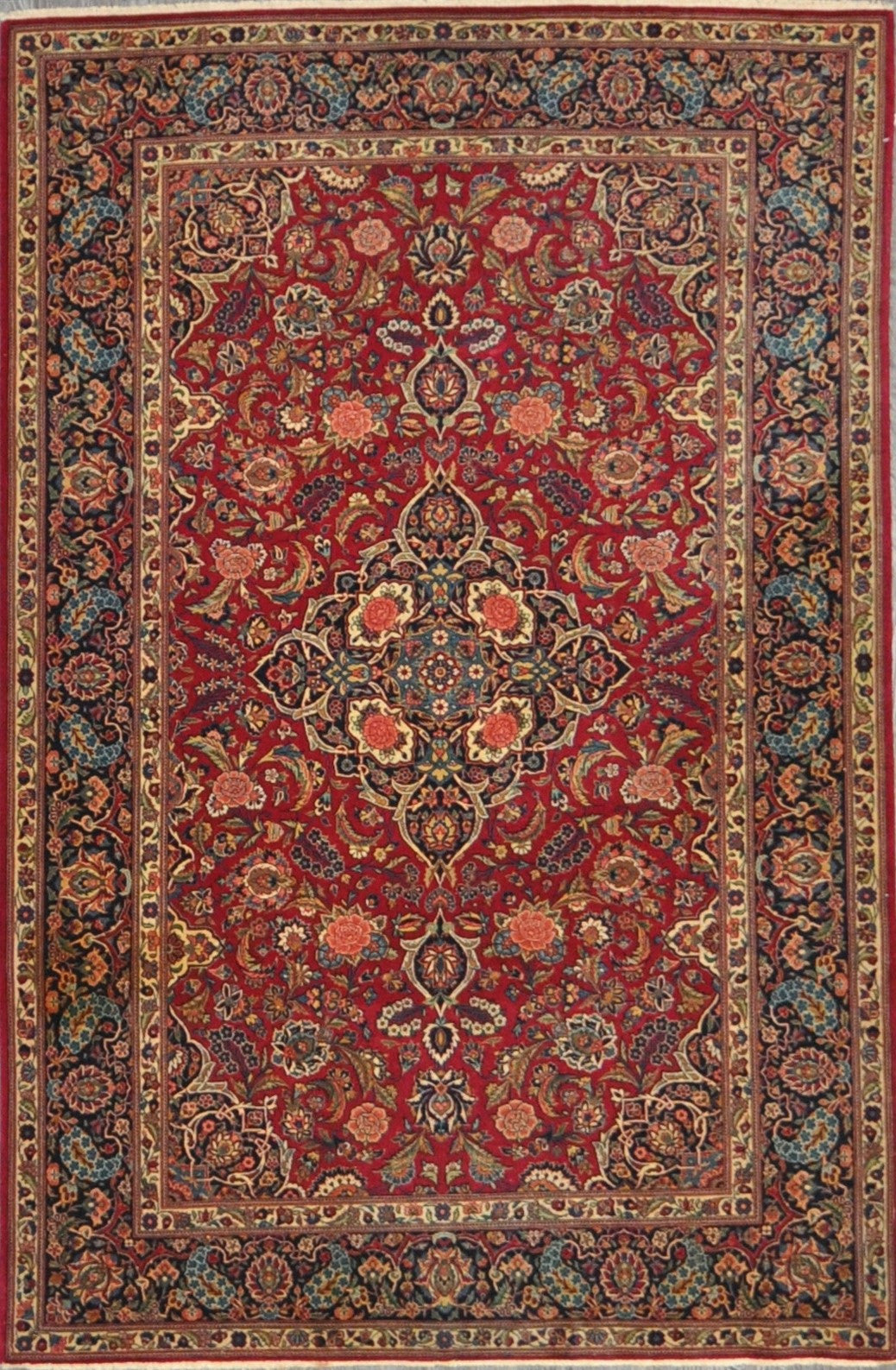 4.6x6.4 Persian antique kashan #65818