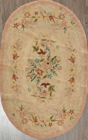3x5 antique hook rug china #94886