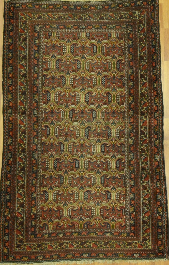 4.2x6.5 Persian antique malayer #29544