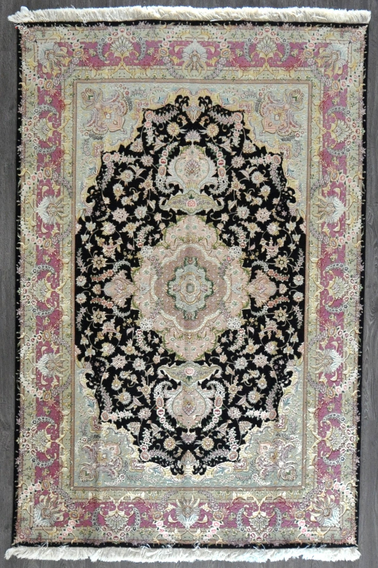 6.8x9.9 persian tabriz wool silk #88386