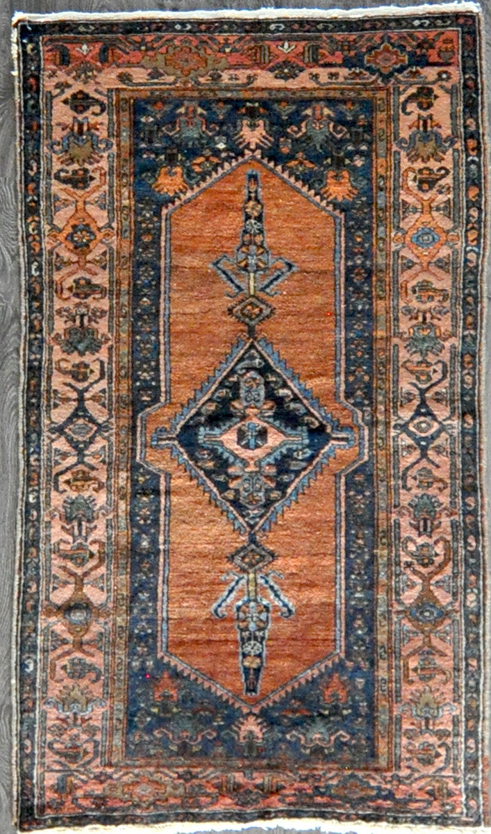 3.4x6 antique hamedan #33907